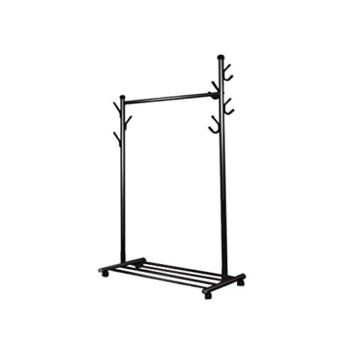 CSQ-Wall Coat Racks Outdoor Drying Rack, Coat Display Stand with Hooks Metal Heavy Drying Rack Portable Mobile Entrance Bedroom Suspension Tidy Rail Clothes Shelves