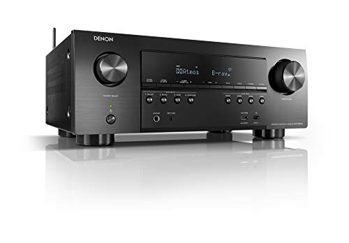 Denon AVR-S950H Receiver, 7.2 Channel (185W X 7) - 4K Ultra HD Home Theater (2019)   Music Streaming   New - eARC, 3D Dolby Surround Sound (Atmos, DTS/Virtual Height Elevation)   Alexa + HEOS