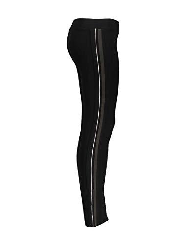 Geisha 91575K - Mallas para niña, diseño de rayas, color negro y blanco Black-army-white 140