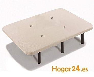 HOGAR24 Base TAPIZADA + 6 Patas DE Metal con Tejido 3D Y VÁLVULAS DE TRANSPIRACIÓN-105x190cm-PATAS 26CM