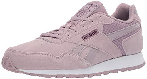 Reebok Women's Classic Harman Sneaker, Lilac Fog/Urban Violet/White/Wow, 7.5 M US