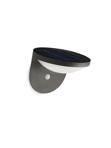 Philips myGarden 178089316 Dusk Solar LED Wandleuchte, anthrazit, Bewegungsmelder