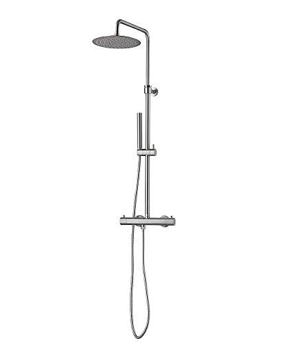 Review Of JEE-O SLIMLINE SHOWER SET | Wall mounted shower set with thermostatic mixer, diverter, han...