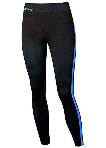 kb-Socken Leggings Damen schwarz Damen Leggings schwarz Sportleggings Sporthose Yoga Hose Tights Gr. S/M L/XL (S/M, Blau)
