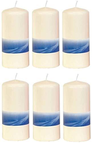 Hillfield 6 Stück cremefarbene Altar Stumpenkerzen Stumpen Kerze (6 Stück 150 x 68 mm)