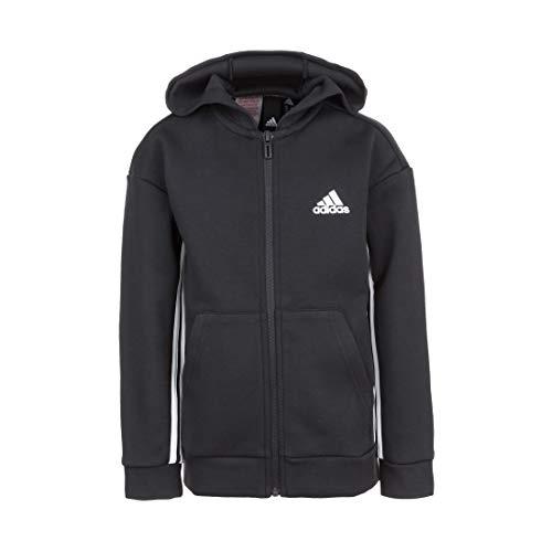 adidas Performance Must Haves 3-Streifen Kapuzenjacke Kinder schwarz/weiß, 128
