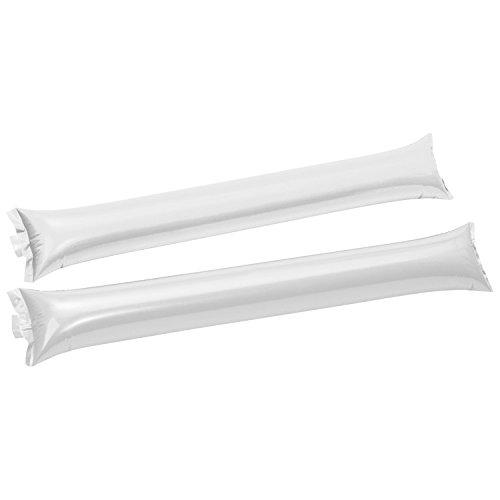 20 (10x2) Klatschstangen / aufblasbar / Farbe: weiß