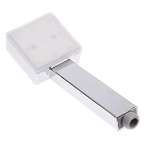 Cabezal de ducha con luces LED - lluvia 3 colores Cambio de cabezal de ducha de alta presión - Acabado de cromo cepillado - Accesorios de cabezal de ducha de mano para la mayoría de la manguera de duc