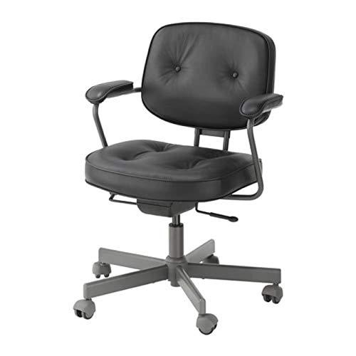 IKEA Alefjall krzesło obrotowe z połyskiem czarne 103.674.61
