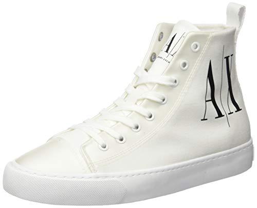 Armani Exchange Damen Hohe Sneaker, Weiß (Op.White+Black Logo 00152), 39 EU