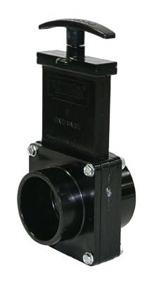 """Valterra 5202 ABS Gate Valve, Black, 2"""" Spig x Slip by Valterra Products"""