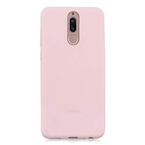 cuzz Funda para Huawei Mate 10 Lite+{Protector de Pantalla de Vidrio Templado} Carcasa Silicona Suave Gel Rasguño y Resistente Teléfono Móvil Cover-Rosa Claro