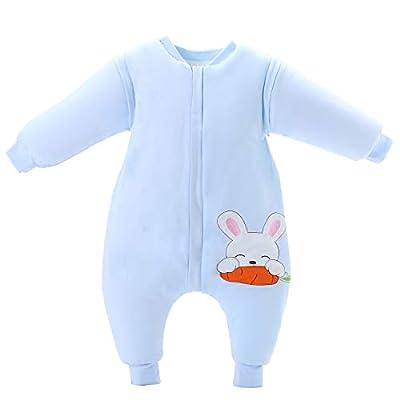 Saco de dormir para bebé de invierno de algodón grueso con forro cálido saco de dormir para niños antipolillas de 3,5 tog