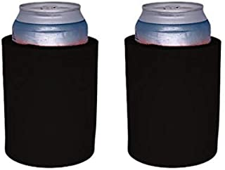 """Blank Thick Foam """"Old School"""" Style Can Coolers (2, Black)"""