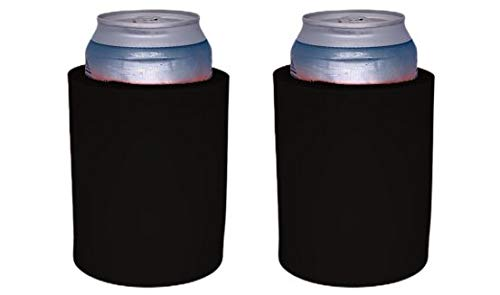 Blank Thick Foam 'Old School' Style Can Coolers (2, Black)