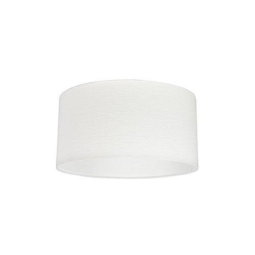 QAZQA Modern Polyester Lampenschirm 50/50/25 Zylinder weiß, Rund gerade Schirm Pendelleuchte,Schirm Stehleuchte