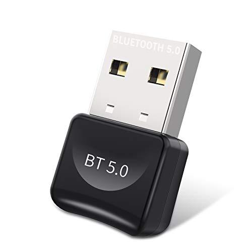 USB Bluetooth Adapter 5.0, Mini Bluetooth Dongle Stick Unterstützt Windows 10/8.1/8/7 Bluetooth Empfänger und Sender für PC, Laptop Desktop Bluetooth Headset, Lautsprecher Tastatur Drucker