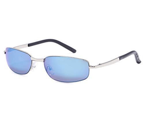 Alsino Lunettes de soleil sans cadre - Lunettes légères avec protection UV 400 - Collection Viper Eyewear - Différents modèles - Unisexe - Bleu clair