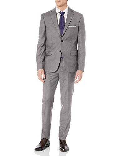 DKNY Grey Wool Slim Fit Suit