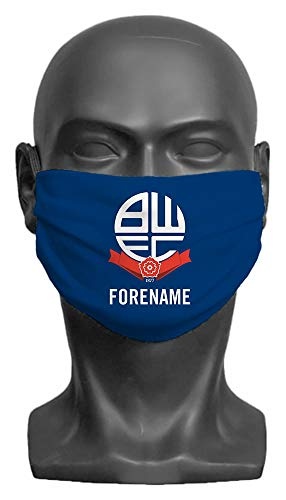 Personalised Bolton Wanderers FC Crest Adult Face Mask - Medium
