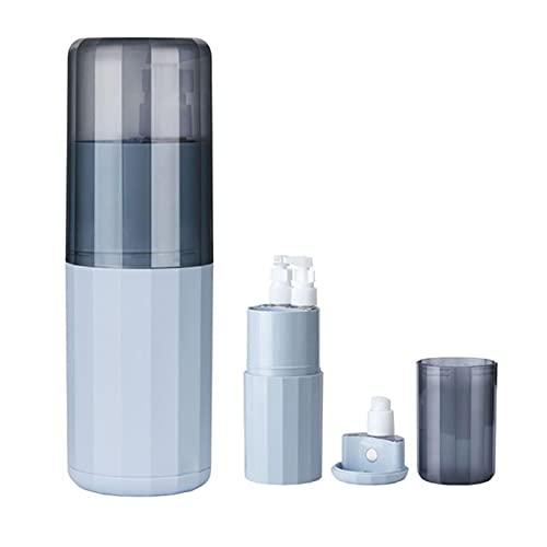 DSFSAEG 6 in 1 Travel Container Tandenborstel Cup Case, Multifunctionele Lekvrije Container voor Reizen (Blauw)