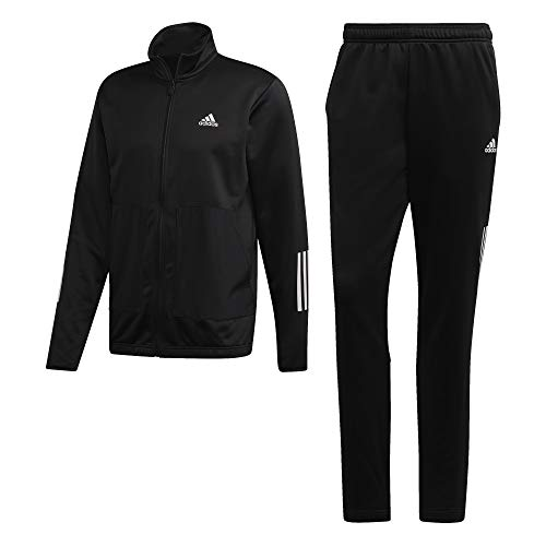 adidas Herren Fabric Mix Tracksuit Trainingsanzug, Black, M