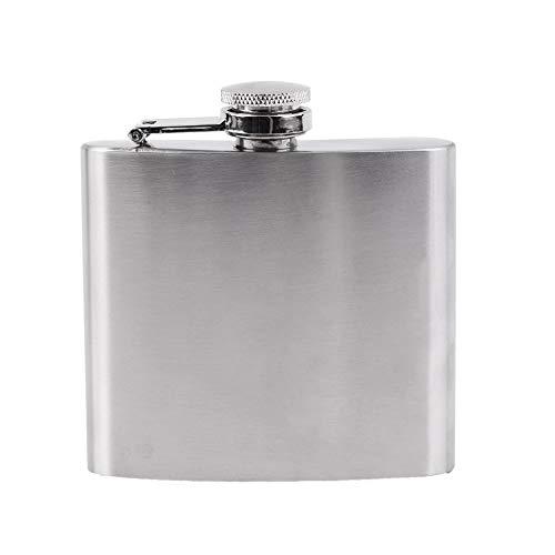 #N/V Petaca de acero inoxidable de 5 onzas para licor, whisky, alcohol, embudo, para beber, vino, accesorios para senderismo, viajes, caza