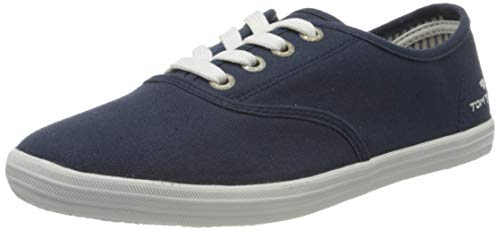 TOM TAILOR Damen 8092401 Sneaker, Blau (Navy 00003), 39 EU
