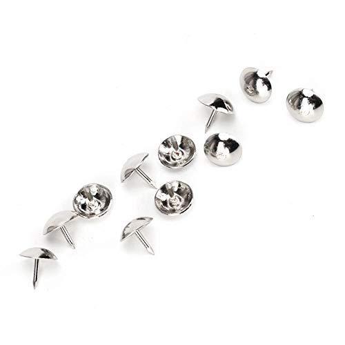 Sheens Rembourrage Nail, 300 Pcs Finition Argent Rembourrage Ongles Rétro Fer Argent Blanc Bijoux Coffret Cadeau Boîte Meubles Décoratifs Goujons 9 MM