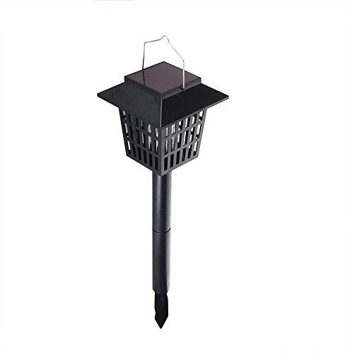 Outdoor Zonne-Insect Killer Lamp, LED Bug Zapper, Vliegen Muggen Killer, Hang Of Stick In De Grond, Dubbele Modi Waterdichte Zonne-Muggen Lamp, Bug Zapper & Tuin Licht Functie, Zwart