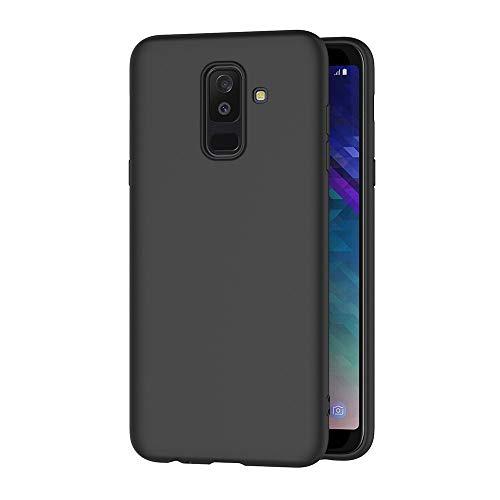 AICEK Cover per Samsung Galaxy J8 2018, Cover Samsung J8 2018 Nero Silicone Case Molle di TPU Sottile Custodia per Galaxy J8 2018 (6.0 Pollici)