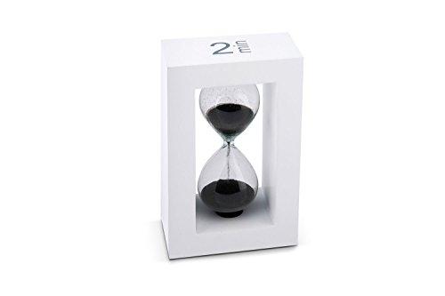 Tea-Timer Teatimer Sanduhr 2 Minuten weiss