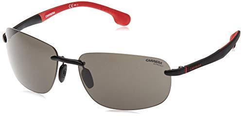 Carrera Men's CA4010/S Rimless Sunglasses, Black/Grey Blue Polarized, 62 mm