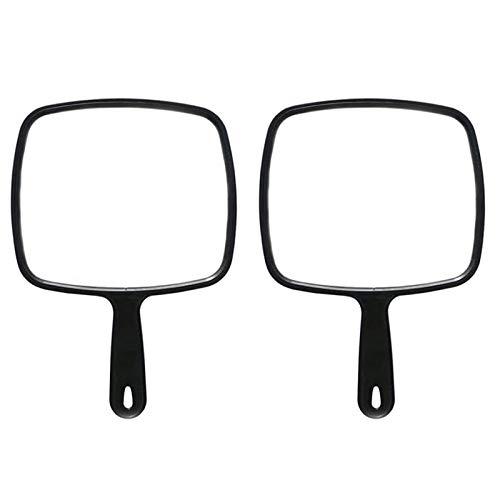 Specchio Trucco Parrucchiere,2PCS Specchio a Mano Con Impugnatura Specchio a Mano Portatile Salon Trucco Specchio Manuale ideale Per Barbieri e Parrucchieri,Maniglia Antiscivolo Foro Per Appendere