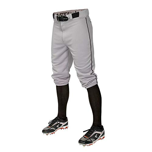 EASTON PRO+ KNICKER Baseball Pant, Adult, Medium, Grey/Black