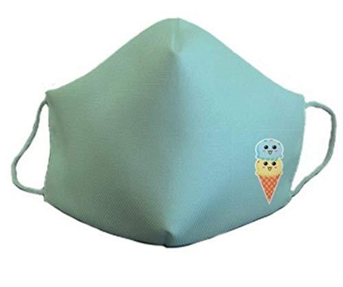 Mascarilla protectora homologada de 3 capas helado original divertida con diseño dibujos