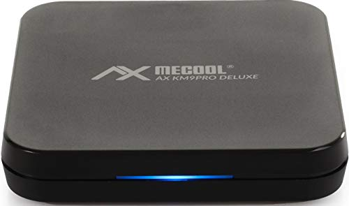AX Mecool KM9 Pro Deluxe 4K UHD Android-TV 10.0 TV IP Box, Google Zertifiziert, Prime Video 4K, YouTube 4K, Disney+ 4K, 5G WLAN, Bluetooth Fernbedienung, Mediaplayer, Chromecast, 2GB RAM & 16GB