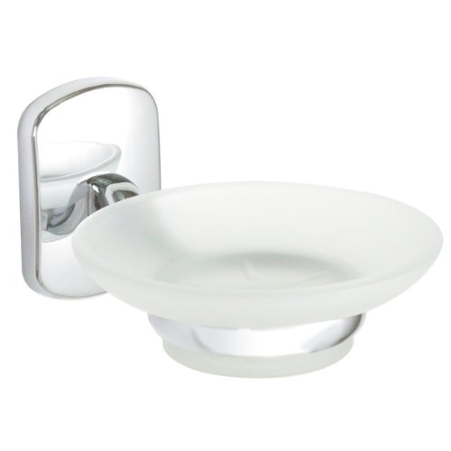 Enzo Rodi 623710 zeepbakje met glazen schaal serie Norit chroom
