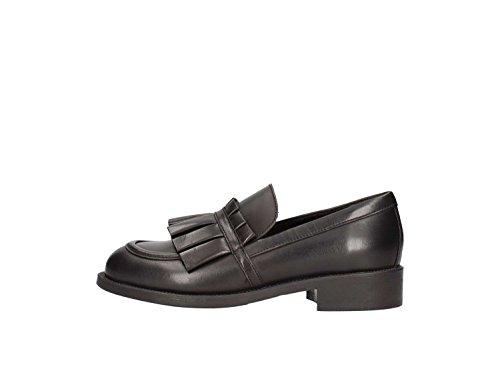 FRAU 13L5 FX nero scarpe uomo mocassini comfort maxi XL 42