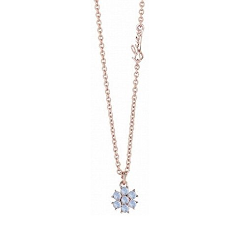 Guess Damen-Kette mit Anhänger California Sunlight Halskette Edelstahl Kristall blau 40 cm-UBN61073