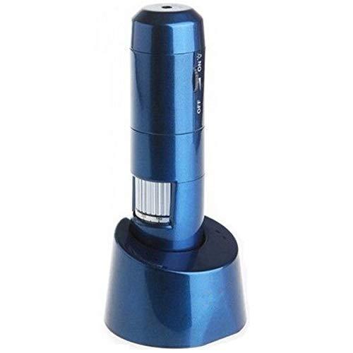 CHSSC WiFi HD Microscopio Digital, 200X De Mano, Microscopio USB, Imagen De Transmisión Inalámbrica, Industria De Belleza Médica LED, Detección De Caligrafía Antigua Y Pintura (Color : Azul)
