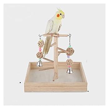 YEZIN Oiseau en Bois perchoir de Perche Perroquet Plate-Forme de Jeu Exercice Gym Gym playder échelle Interactive Jouets Fournitures d'oiseaux (Color : Type1)