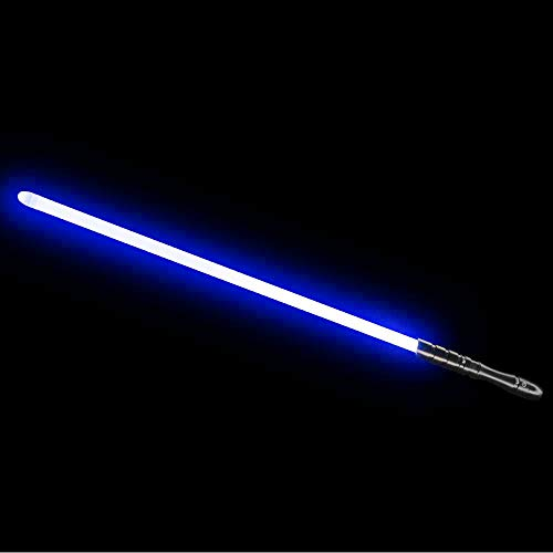 YDD Jedi Sith LED Light Saber, Force FX Heavy Dueling, Rechargeable Lightsaber, Loud Sound High Light with FOC, Metal Hilt, Blaster, (Blue)