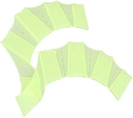 Clockeikic Soft Silicone Swim Gear Fins Hand Web Flippers Training Gloves for Women Men