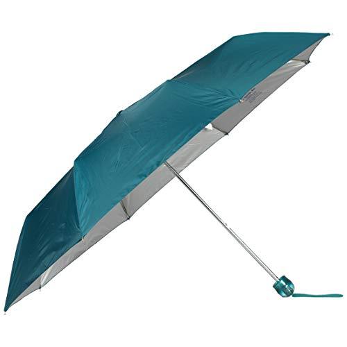 John's Umbrella Polyester Umbrella (Sea Green_3 Fold Moon Silver)