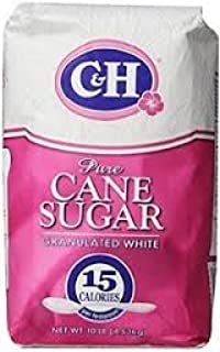 C&H, Pure Cane, Granulated White Sugar, 4 Lb (Pack of 2)
