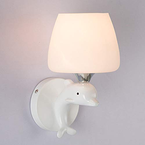 WJPL Moderne wandverlichting met lampenkap van glas en hars lampenkap, creatieve wandlamp, moderne verlichting voor woonkamer, slaapkamer, werkkamer, wandlamp 85-265 V//E27