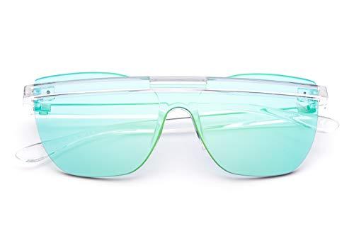 Saraghina Eyewear Príncipe - Príncipe Bubbles - PRINCE5BBLS-13BGR Cristal - Lente espejada de burbujas de jabón azul verde - Gafas de sol para hombre - Mujer - Unisex - Nailon ultraligero