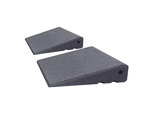 Türschwellenrampen Set Excellent 250/65 mm hoch aus Gummigranulat hochverdichtet (grau)