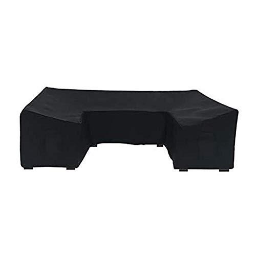 Terynbat Funda de sofá en forma de U, cubierta protectora impermeable para muebles de exterior